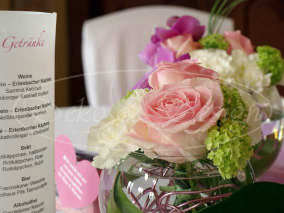 Beispiel: Dekoration und Hochzeitsfloristik, Foto: Deko & Design.