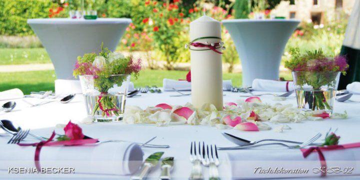 Beispiel: Florale Tischdekoration, Foto: Ksenia Becker.