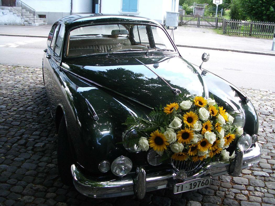 Beispiel: Autoschmuck, Foto: Hotz Gärtnerei.