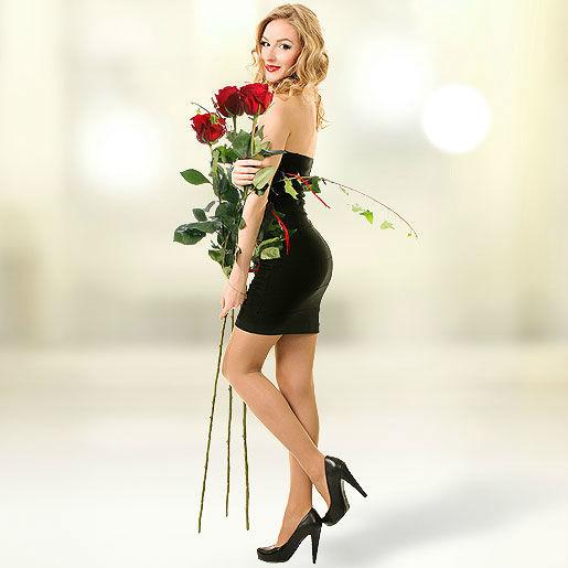 Beispiel: 3 echte Riesen-Rosen, Foto: Valentins.de Blumen & Geschenke.