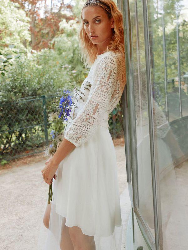 LAURETTE - Blouse de mariée romantique en dentelle - Myphilosophy Paris