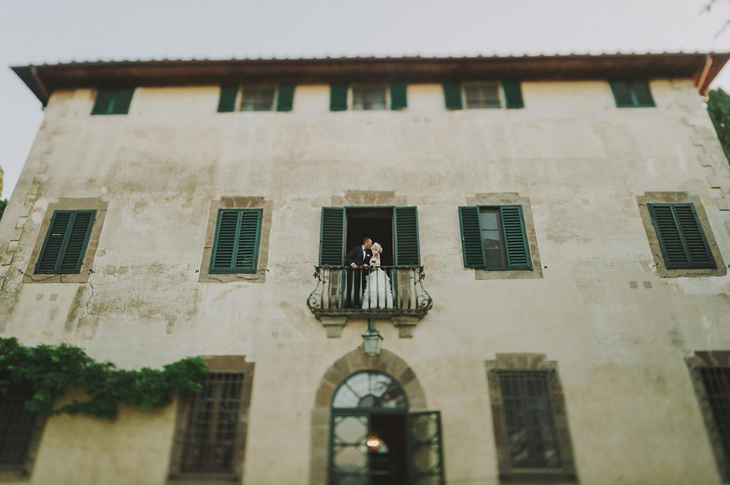 American wedding in Tuscany