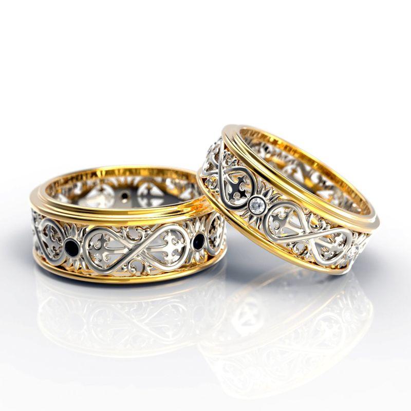 Кольца с знаком бесконечности и бриллиантами. Для расчета стоимости или заказа звоните  8 (495) 125 25 05