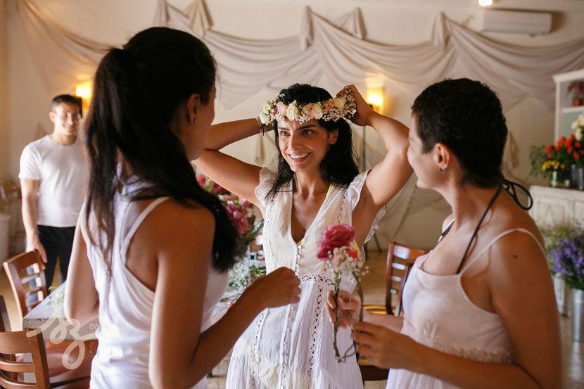 Taller Floral en boda de Aislinn Derbez