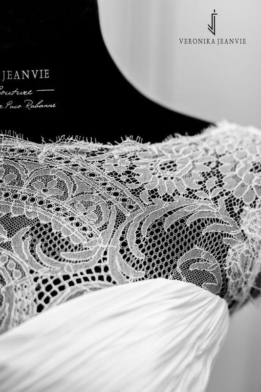 Robe de mariée sur-mesur dentelle de Calais-Caudry détail | Collection 2017 | Veronika Jeanvie