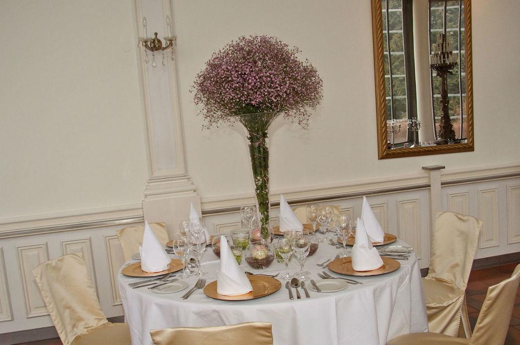 Beispiel: Tischdekoration, Foto: Schlosscafé im Palmenhaus.