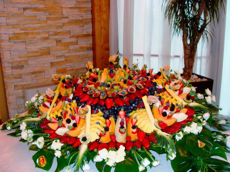 Trofeo di frutta al Ristorante Croce di Malta