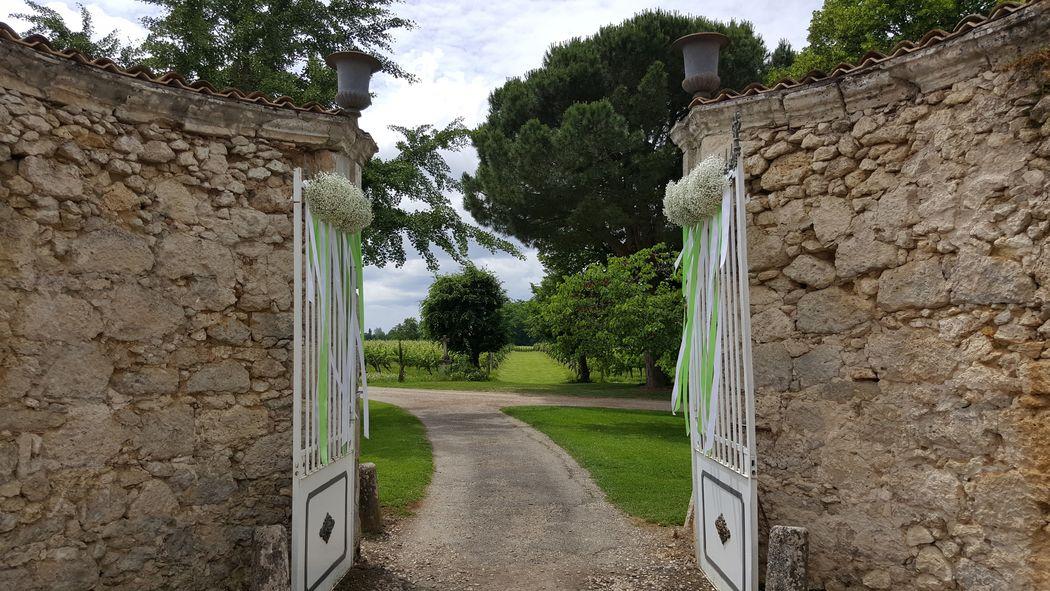 Château La Hitte Portail d'entrée