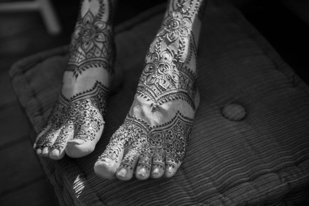 Henna avond voorafgaand aan de bruiloft