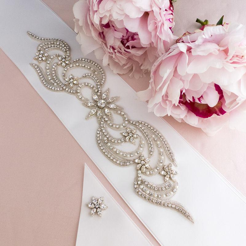 ceinture de mariage avec cristaux Swarovski