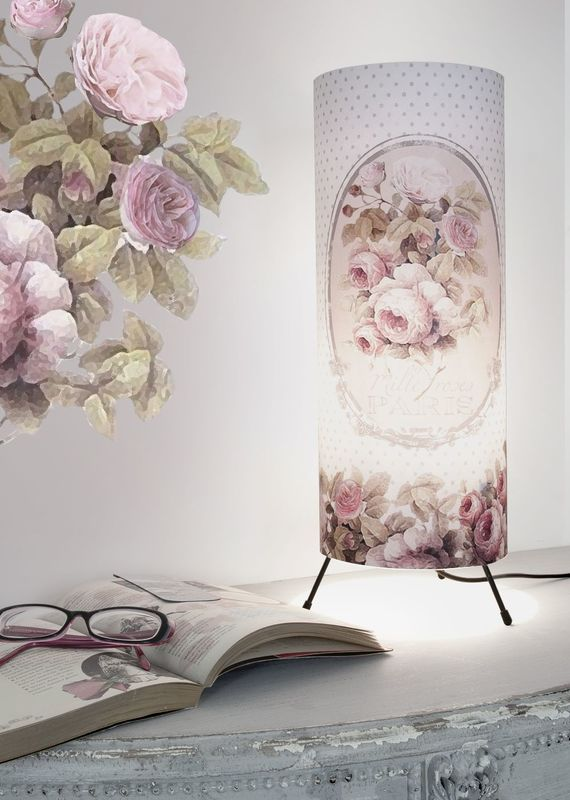 lampe mille roses