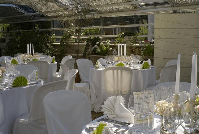 Beispiel: Hochzeitsgedeck in weiß, Foto: Die Alte Gärtnerei.