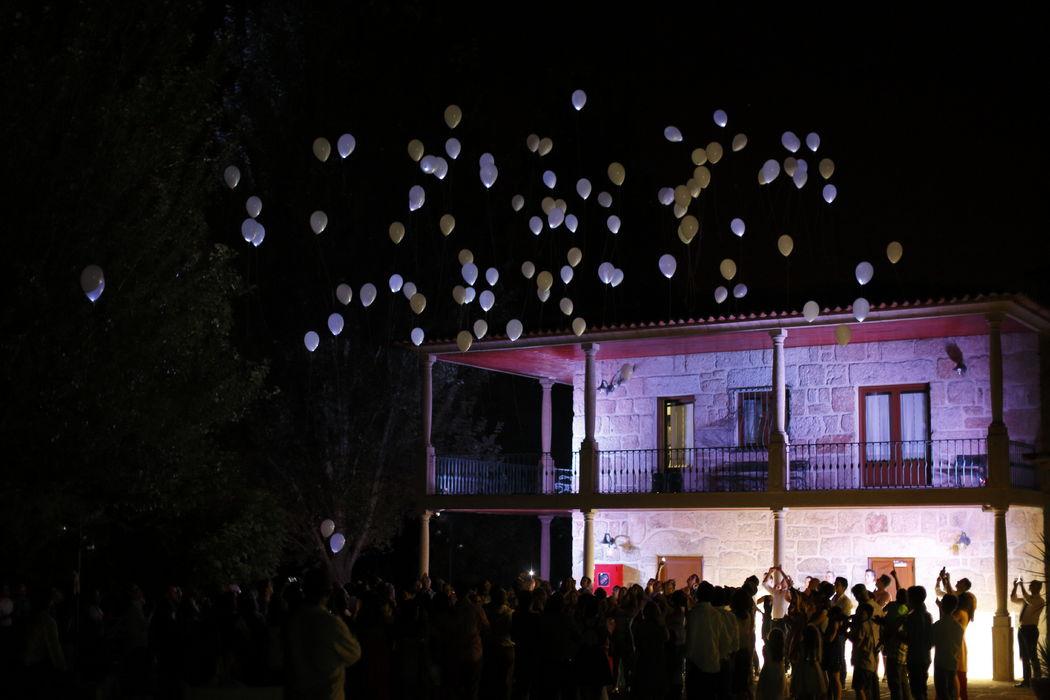 Largada de balões com LEDS