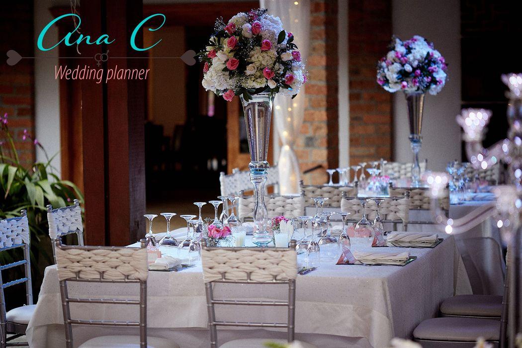 Centros de mesas elegantes