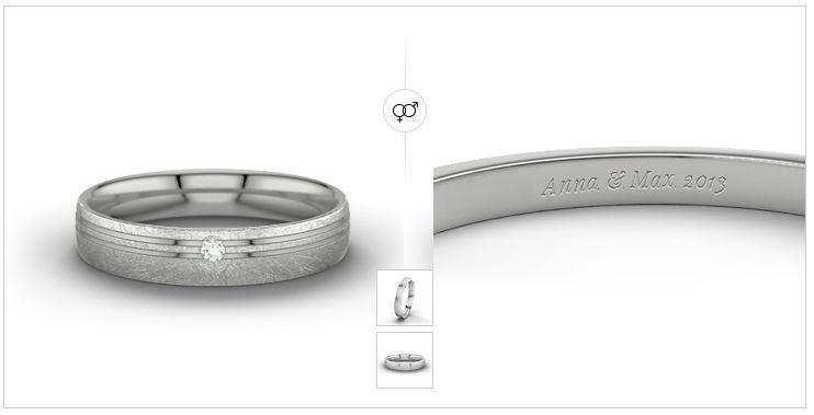 Beispiel: Ring mit Gravour, Foto: 21 Diamonds.