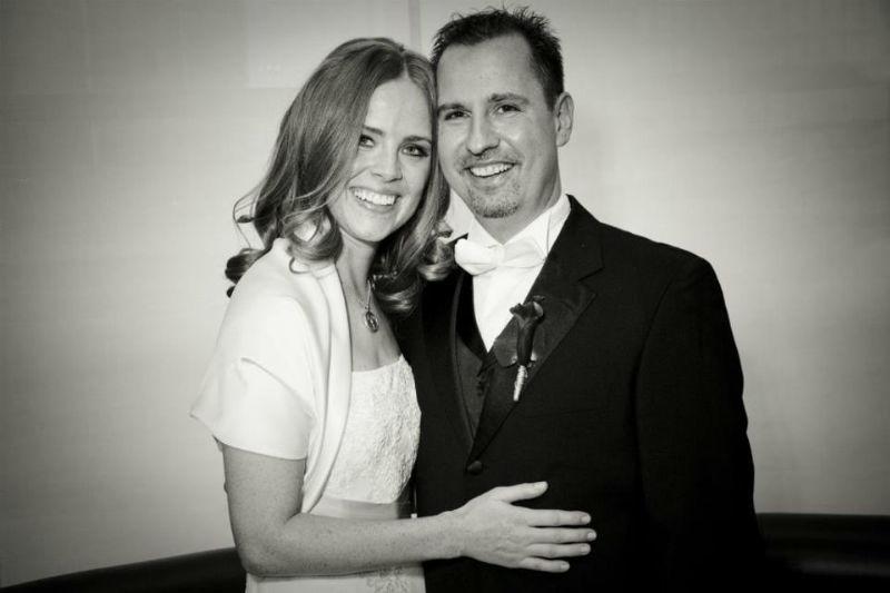 Beispiel: Hochzeitsbilder in Schwarz-Weiß, Foto: Alexander Vejnovic.
