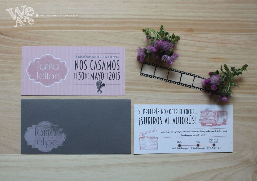 We Are. - invitaciones de boda. Diseño y Producción.