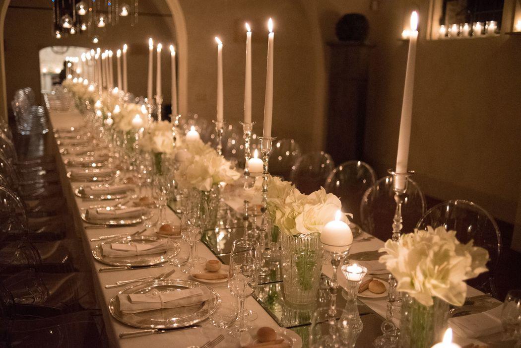 Matrimonio invernale con tavolo imperiale