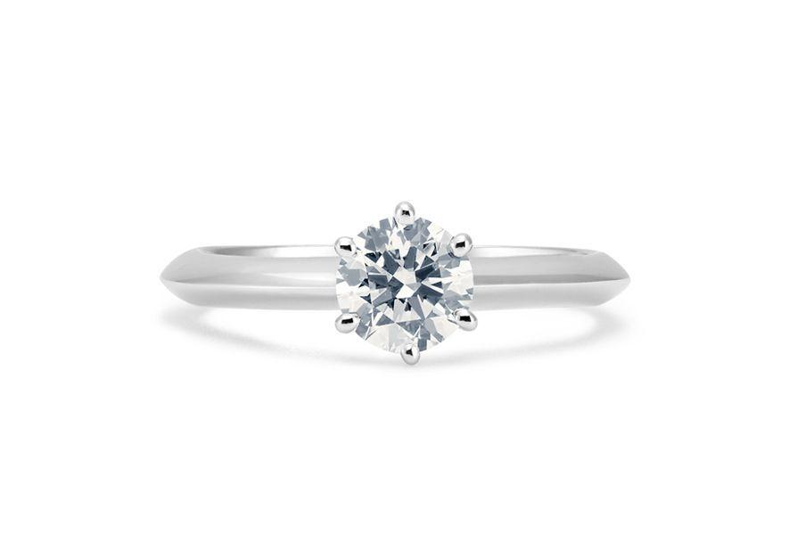 Solitaire Amy - Or blanc palladié & Diamant éthique Canadien