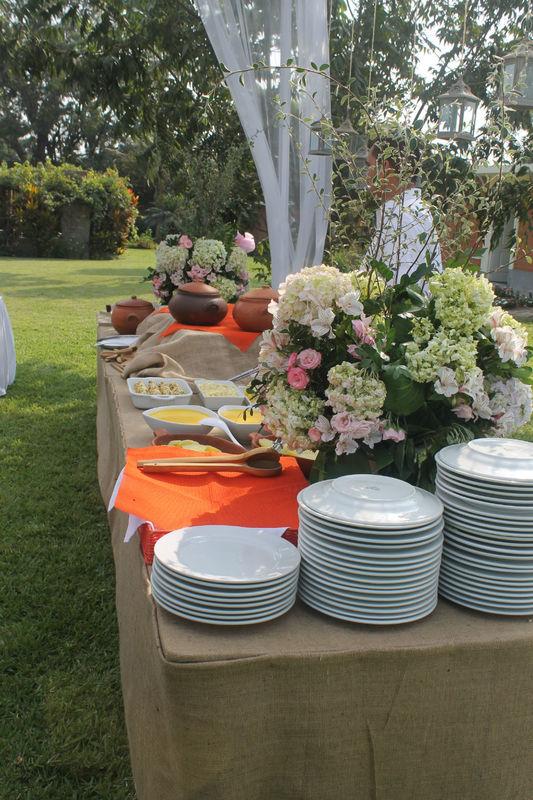 Decoración mesa buffet