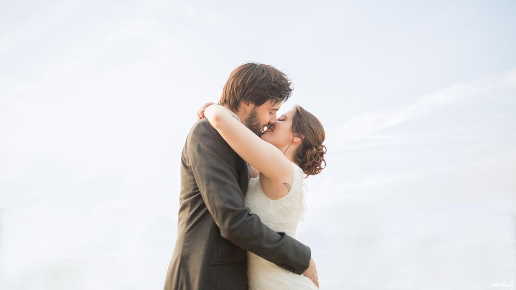 Séance de couple pendant le mariage