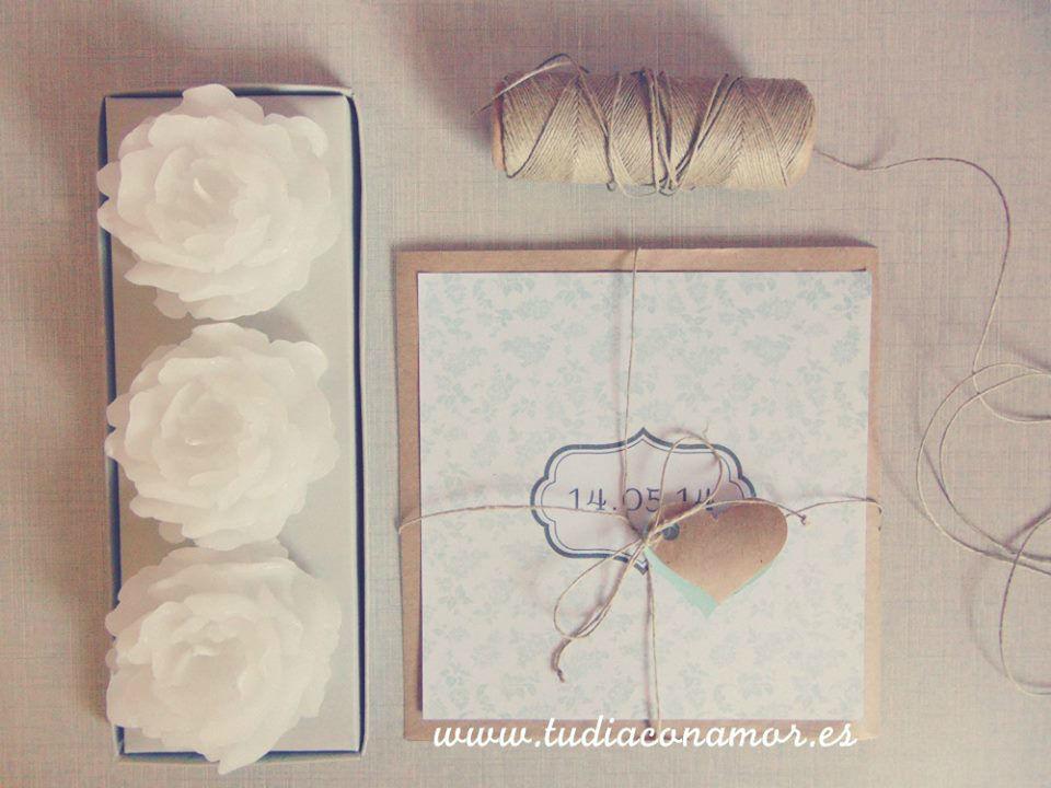 Invitaciones de boda rústucas