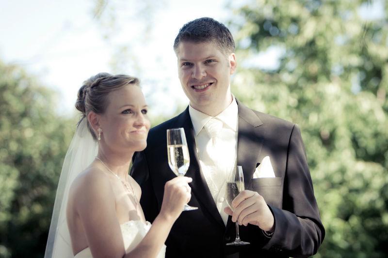 Beispiel: Brautpaar, Foto: Weingut Domhof.