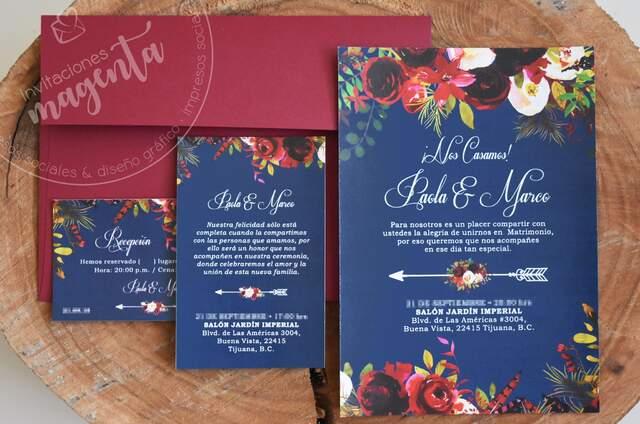 Invitaciones Magenta
